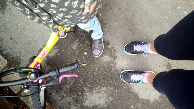 running avec enfant