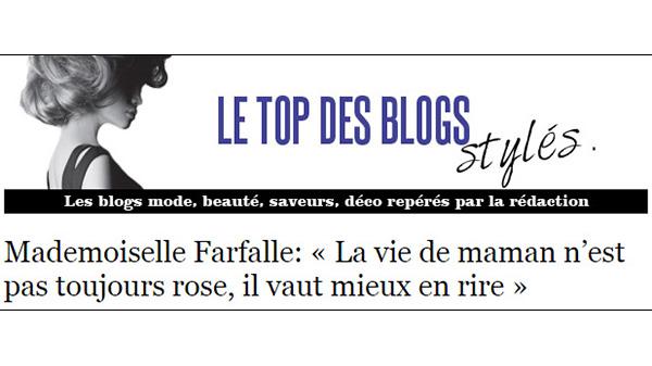 Le truc de fou (bis) : Mademoiselle Farfalle est un blog stylé!