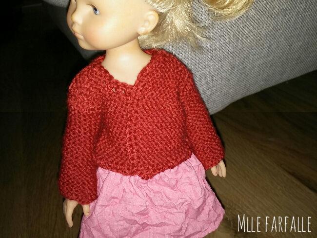 gilet au tricot chéries de corolle