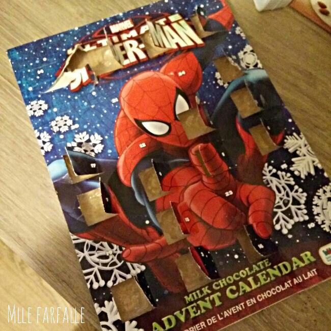 calendrier de l'Avent Spiderman