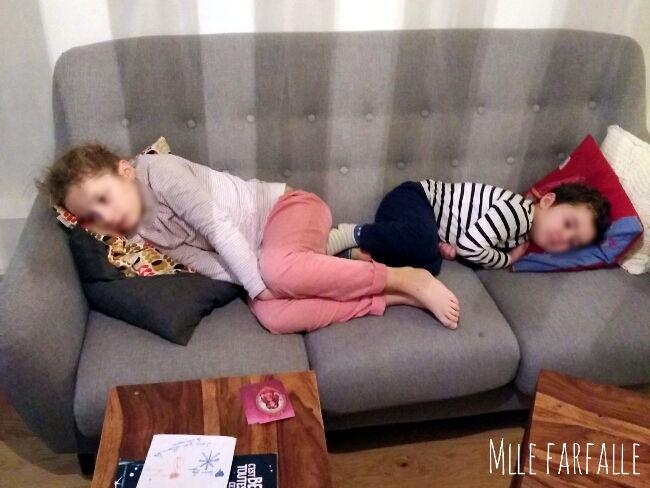 enfants fatigués