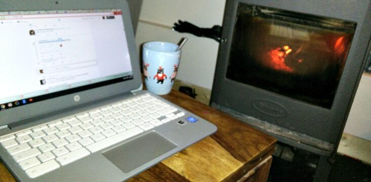 bloguer au coin du feu