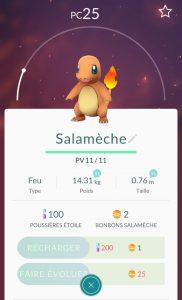 Salamèche Pokemon Go