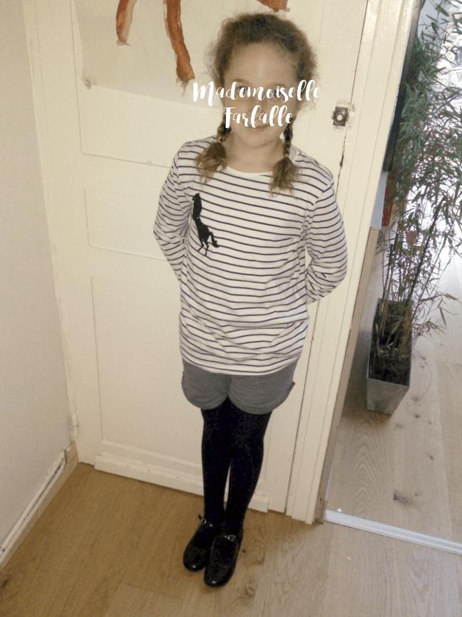 short fille gris