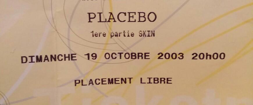 Placebo octobre 2003