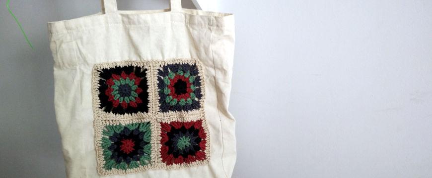 [DIY] Customiser un tote bag avec des granny squares