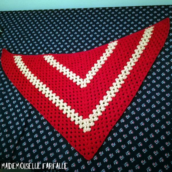 half granny shawl