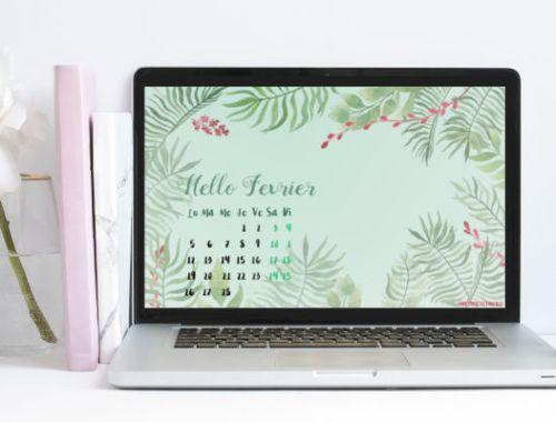 calendrier de février 2018