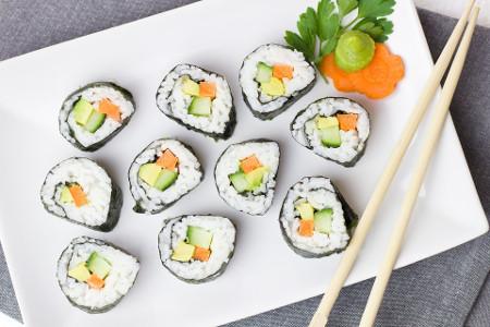 Sushi, Végétarien, Légumes, Riz, Asie, Carotte