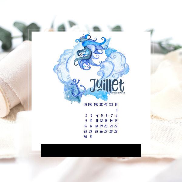 calendrier de juillet