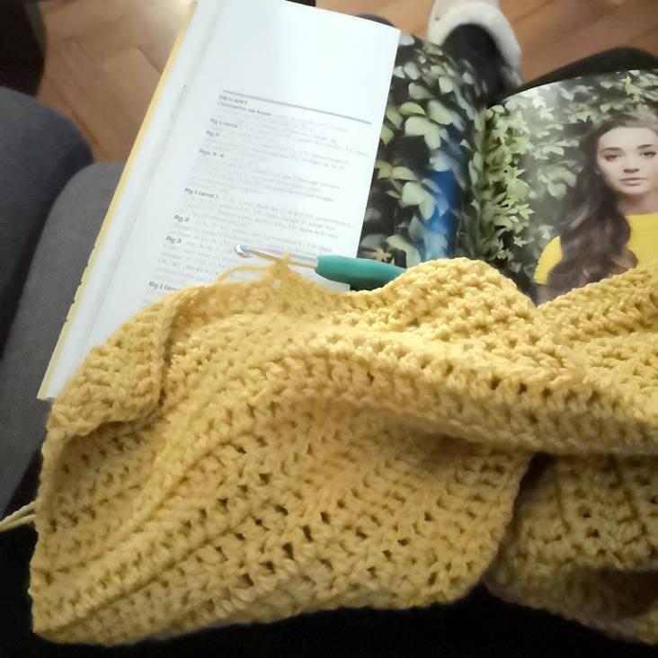 pull au crochet