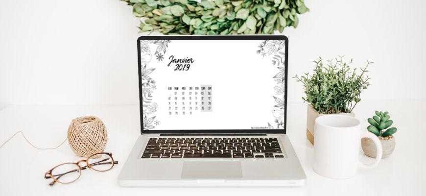 Calendrier et fonds d'écran de janvier 2019 à télécharger