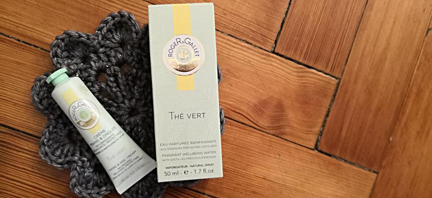 L'eau parfumée bienfaisante et la crème mains & ongles Thé Vert de Roger & Gallet