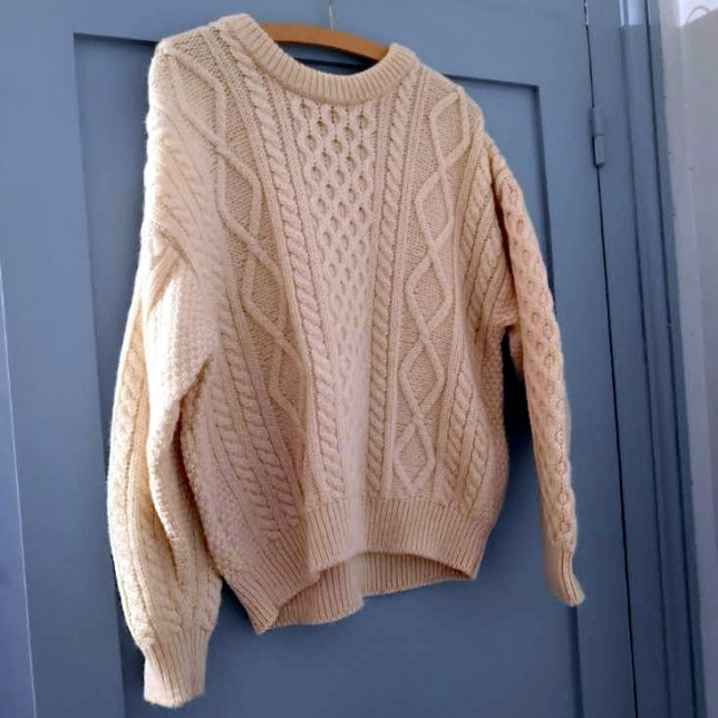 Pull aran Made in Ireland 100% laine