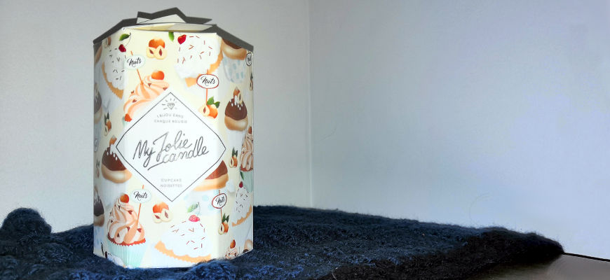 cupcake noisette My Jolie Candle