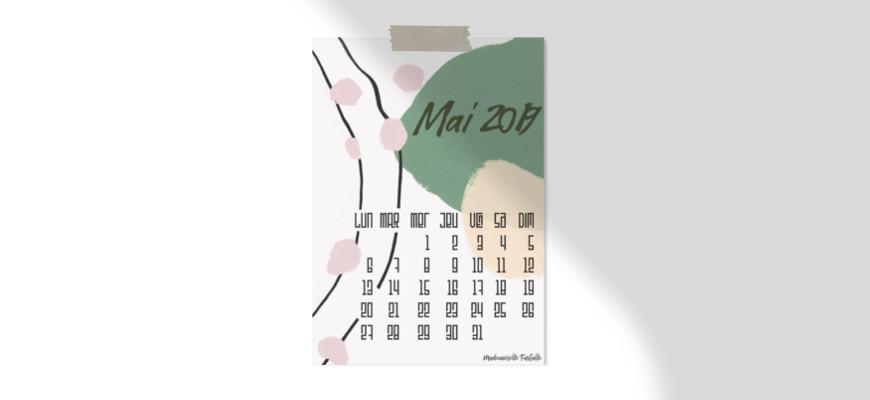 Calendrier et fonds d'écran de mai 2019 à télécharger