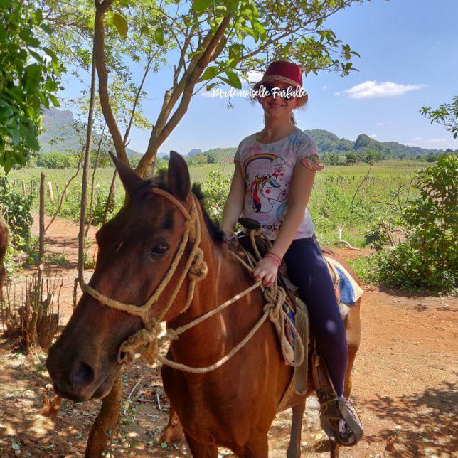 Vallée de Vinales à cheval