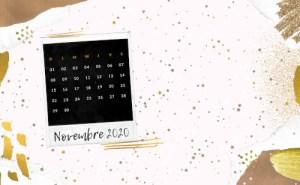 Calendrier novembre 2020 à télécharger