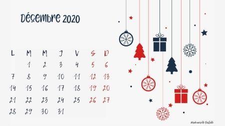 Calendrier Et Fonds D Ecran De Decembre 2020 A Telecharger Mademoiselle Farfalle