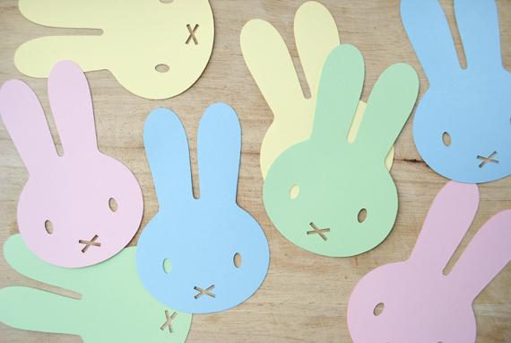 DIY de Pâques - Guirlande de lapins