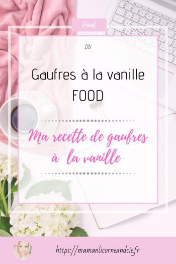 Gaufre à la vanille recette