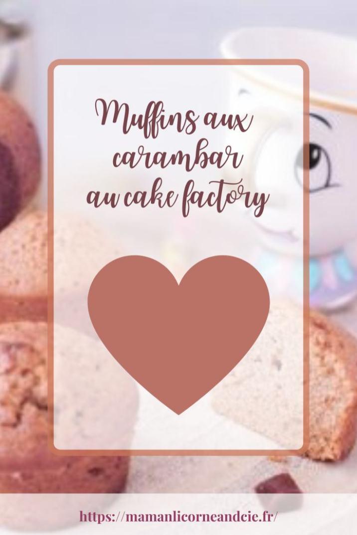 Muffins aux carambar au cake factory