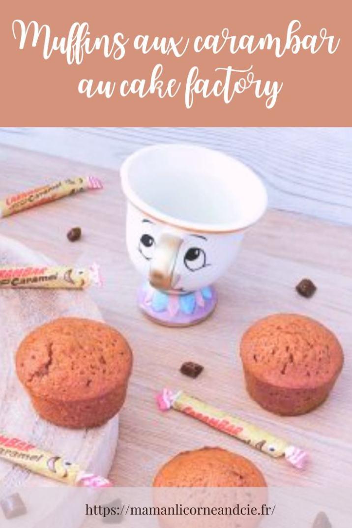 Muffins carambar au cake factory