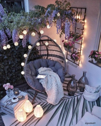 Coin cocooning terrasse