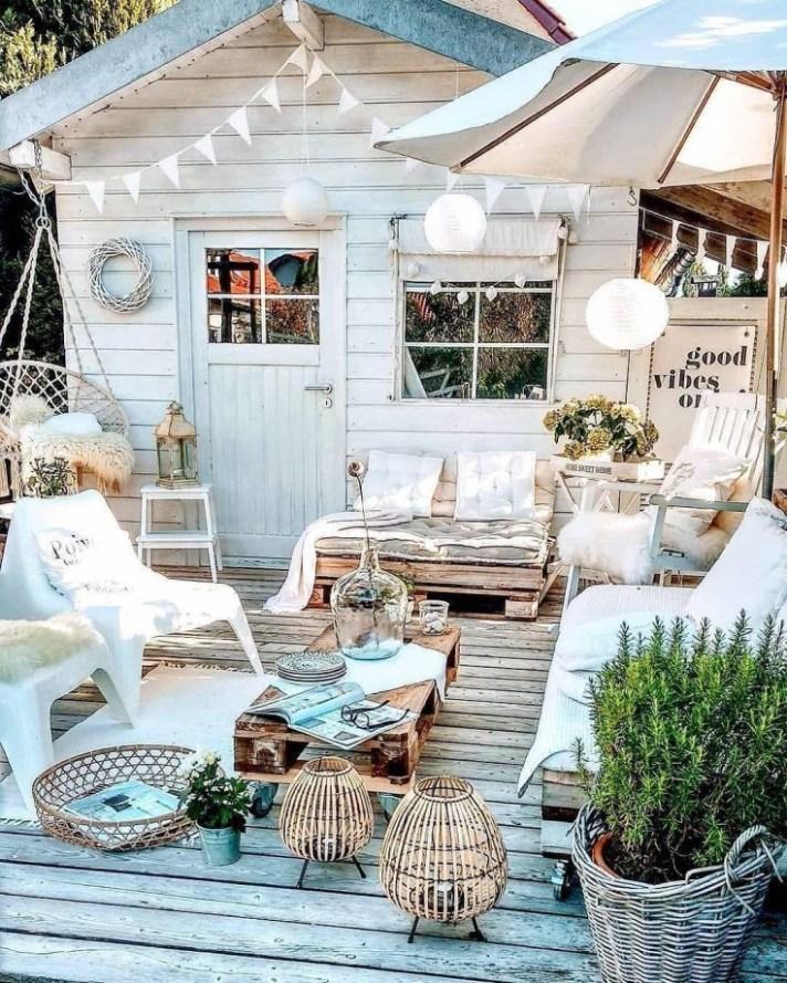Inspiration déco terrasse blanche