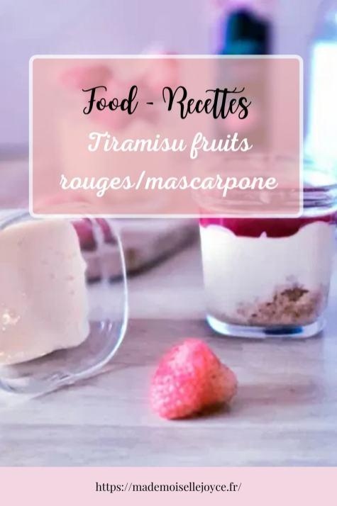 Recette multidélices : Tiramisu fruits rouges_mascarpone