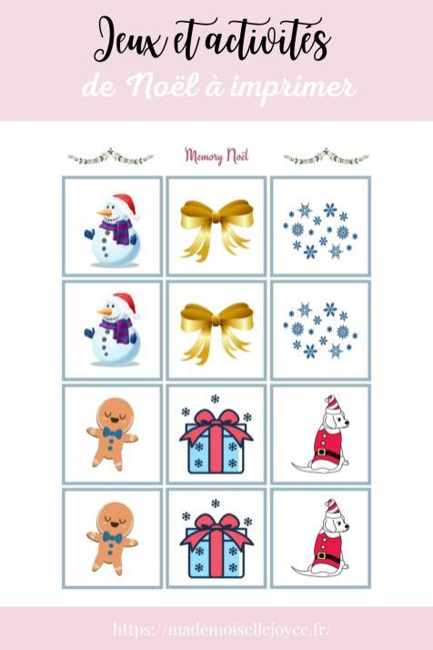 Activités et jeux de Noël à imprimer