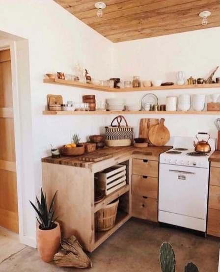 Comment décorer une petite cuisine bois