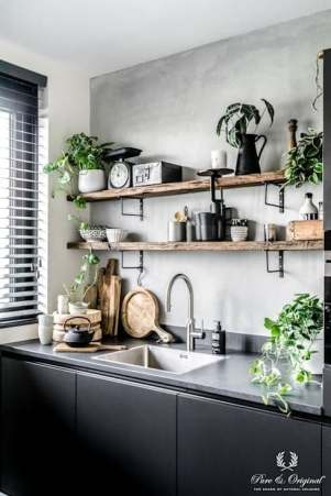 Déco petite cuisine noire