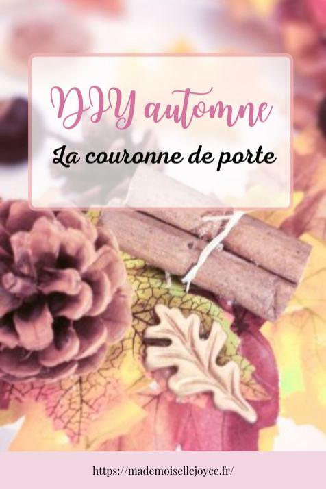 DIY automne, couronne de porte