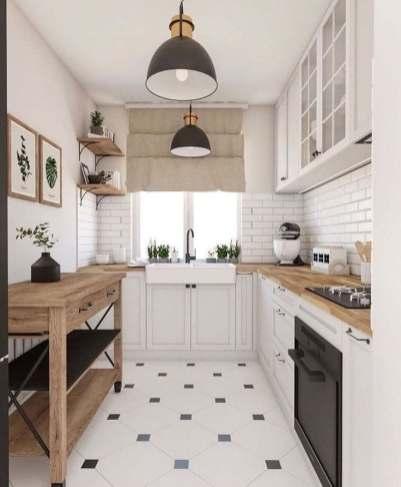 Décoration et aménagement petite cuisine blanche