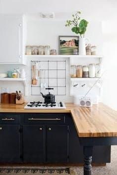 Décoration petite cuisine noire