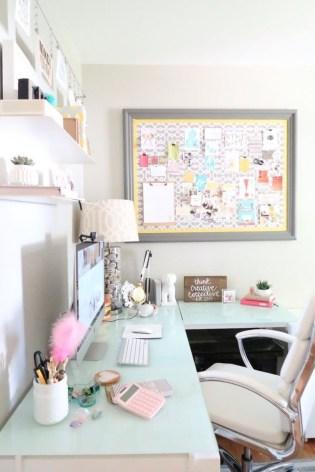 Idée bureau femme girly