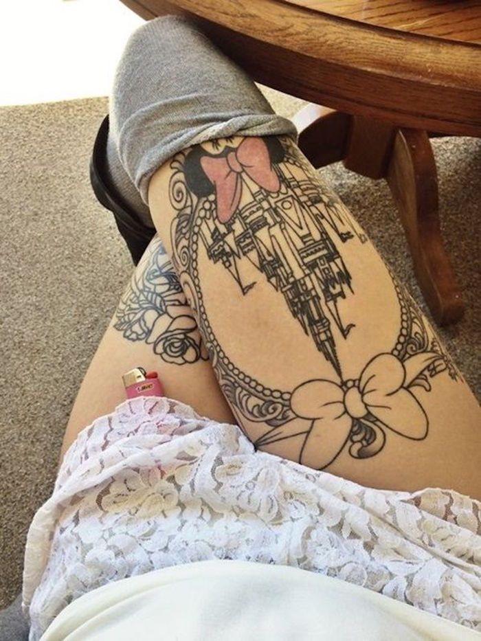 Idées tatouage cuisse femme Disney