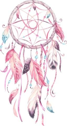 Idées tatouage cuisse femme attrape rêves rose