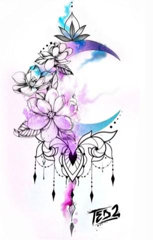 Idées tatouage cuisse femme dessin lune mandala.jpg