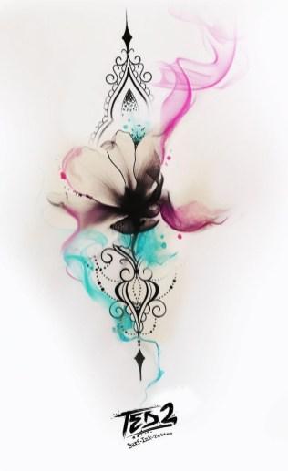 Idées tatouage cuisse femme dessin mandala