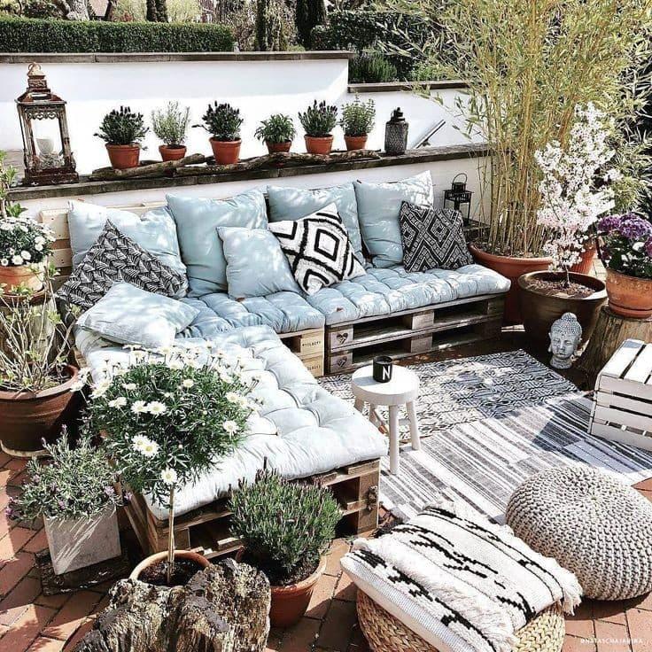 Idées décoration salon de jardin palettes