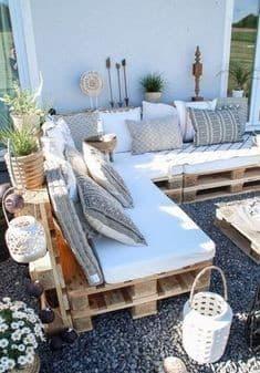 Idées salon de jardin en palettes