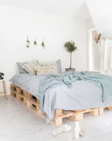 Les plus jolies créations en palettes de bois, lit