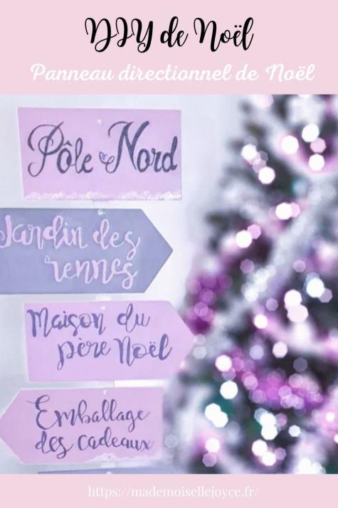 Panneau directionnel de Noël