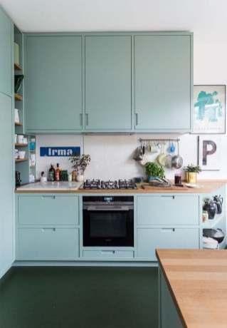 Petite cuisine bleue décoration