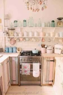 Petite cuisine rose idées décoration