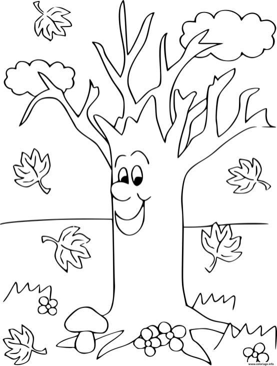 Coloriage d'automne pour enfants