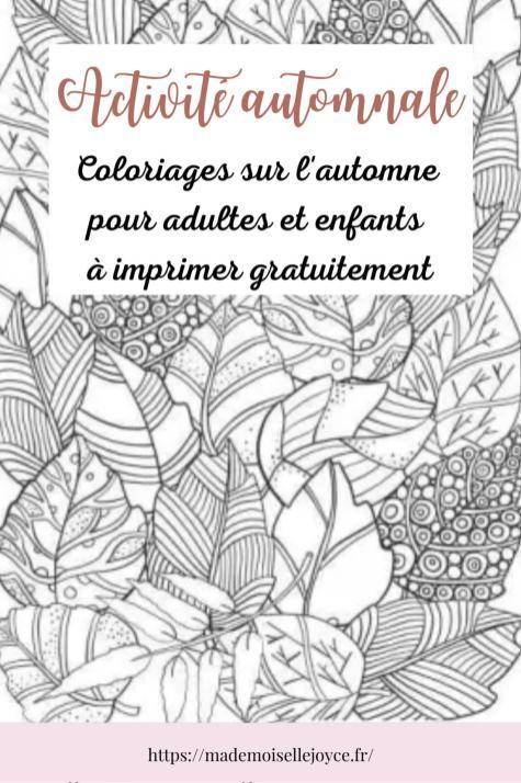 Coloriages automne enfants