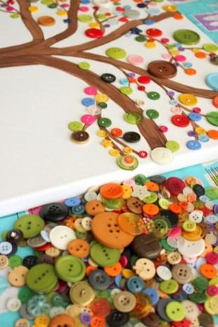 idées d'activités automne pour enfants avec boutons